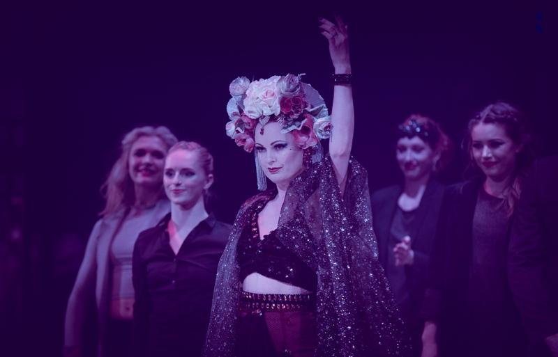 Lili La Scala and cast in Black Cat Cabaret: Nocturne at London Wonderground 2015. ©Jason Moon  (Review: Black Cat Cabaret - Nocturne)