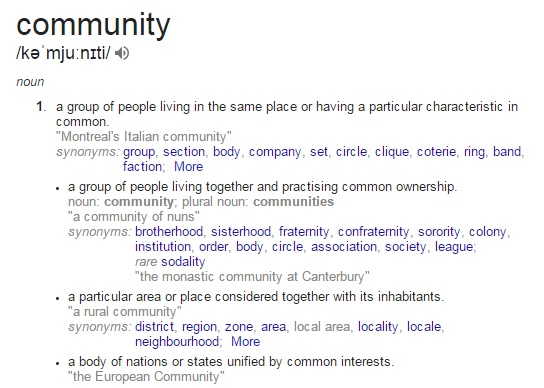 Definition of Community