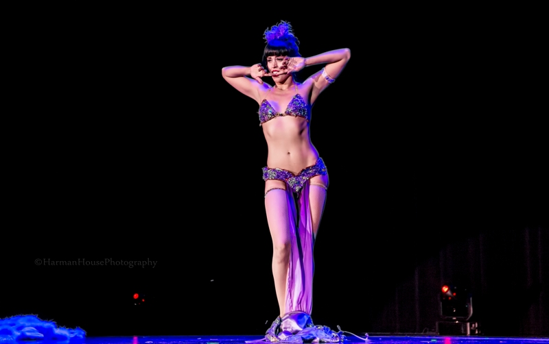 Ginger Valentine at the Burlesque Hall of Fame Weekend Tournament of Tease in The Orleans Showroom, Las Vegas. ©Chris Harman/Harman House Photography for 21st Century Burlesque Magazine. Not to be used without permission.