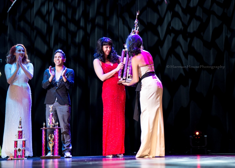 Ginger Valentine is awarded 2nd Runner Up at the Burlesque Hall of Fame Weekend Tournament of Tease in The Orleans Showroom, Las Vegas. ©Chris Harman/Harman House Photography for 21st Century Burlesque Magazine. Not to be used without permission.