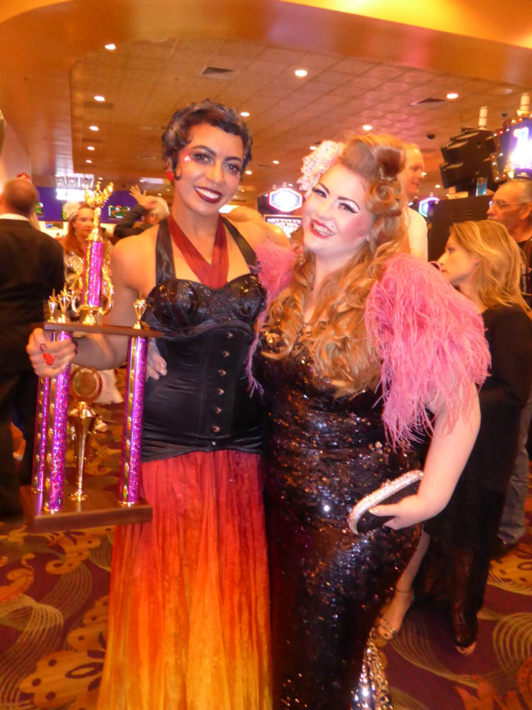 Alyssa Kitt with Zelia Rose at the Burlesque Hall of Fame Weekend 2015.  ©Alyssa Kitt