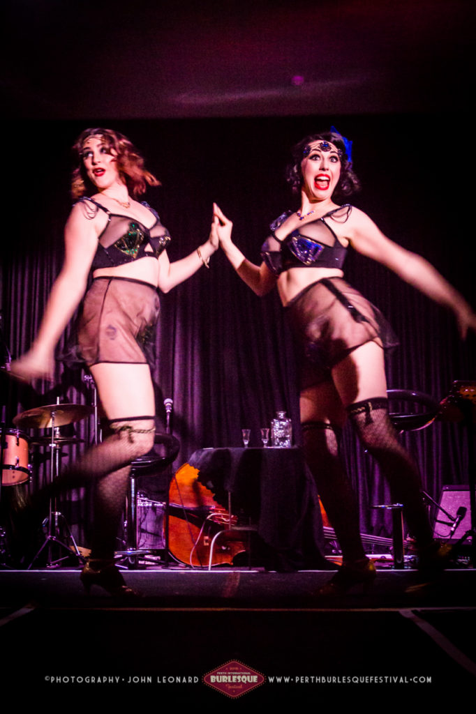 Tipsy Twosome at the Perth International Burlesque Festival.  ©John Leonard