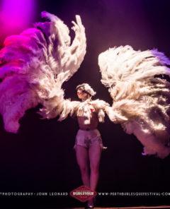 Vicky Butterfly at the Perth International Burlesque Festival. ©John Leonard