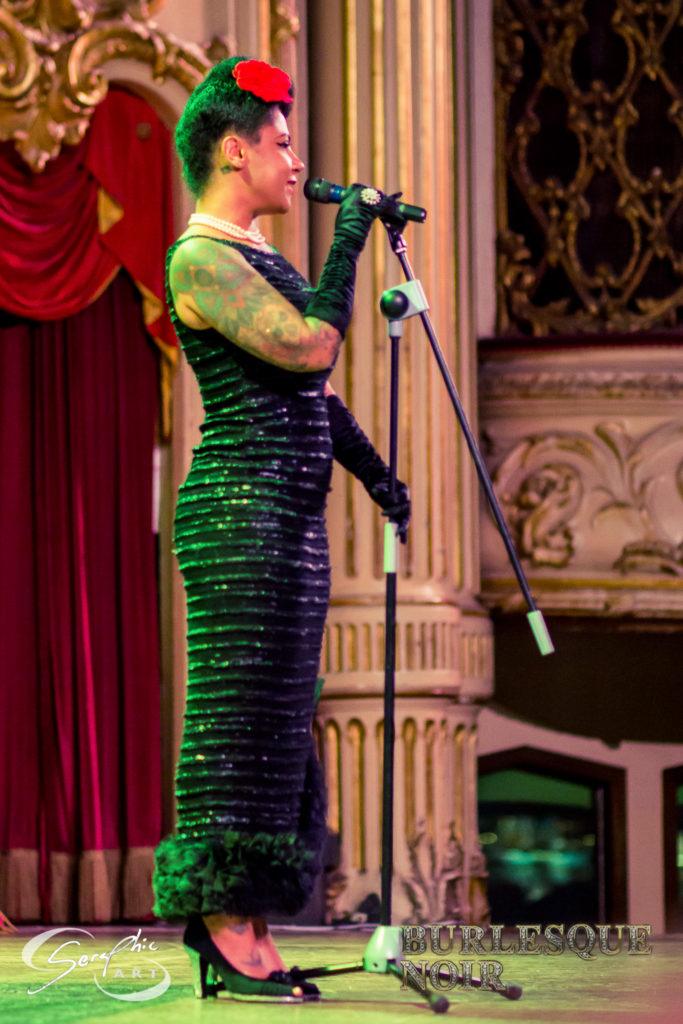 Coco Malone in Burlesque Noir, Starring Tempest Storm (Blackpool, UK). Photo by Craig Seraphic