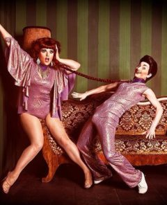 Kitten LaRue and Lou Henry Hoover, by Marco Felix.