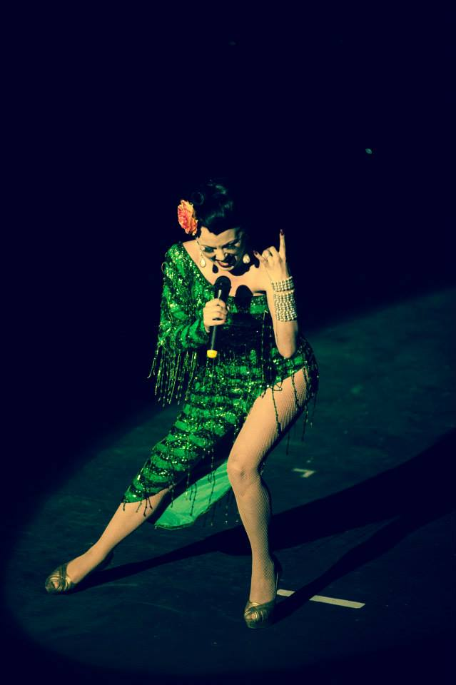 Lili La Scala at the Hebden Bridge Burlesque Festival 2015, by James Millar