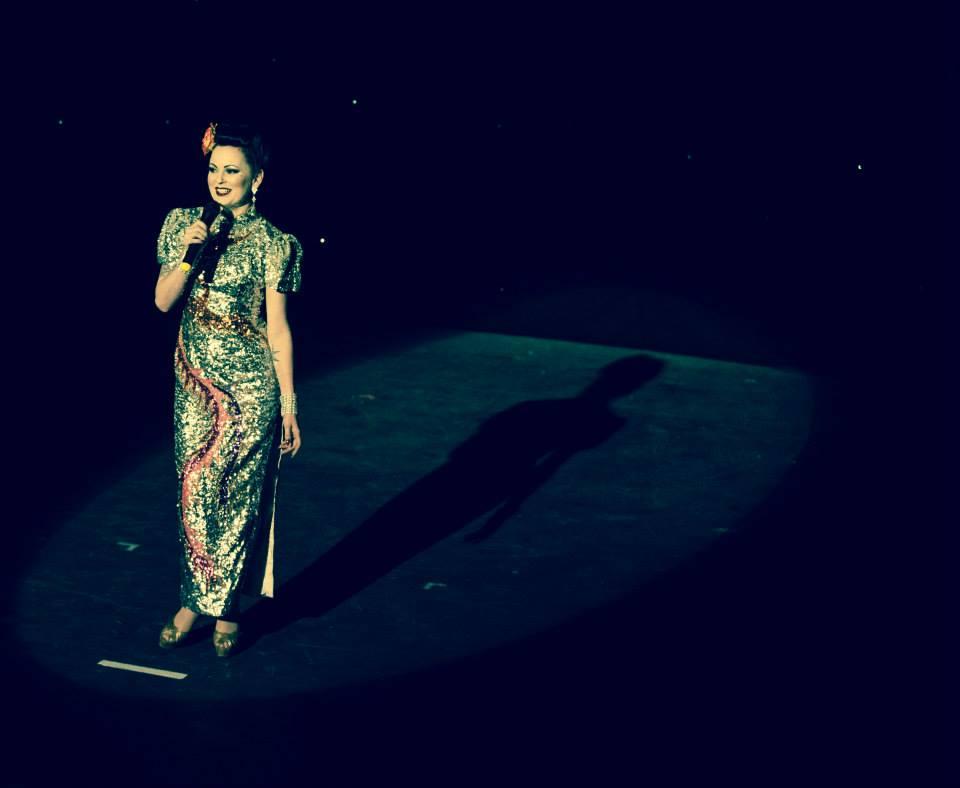 Lili La Scala at the Hebden Bridge Burlesque Festival 2015, by James Millar