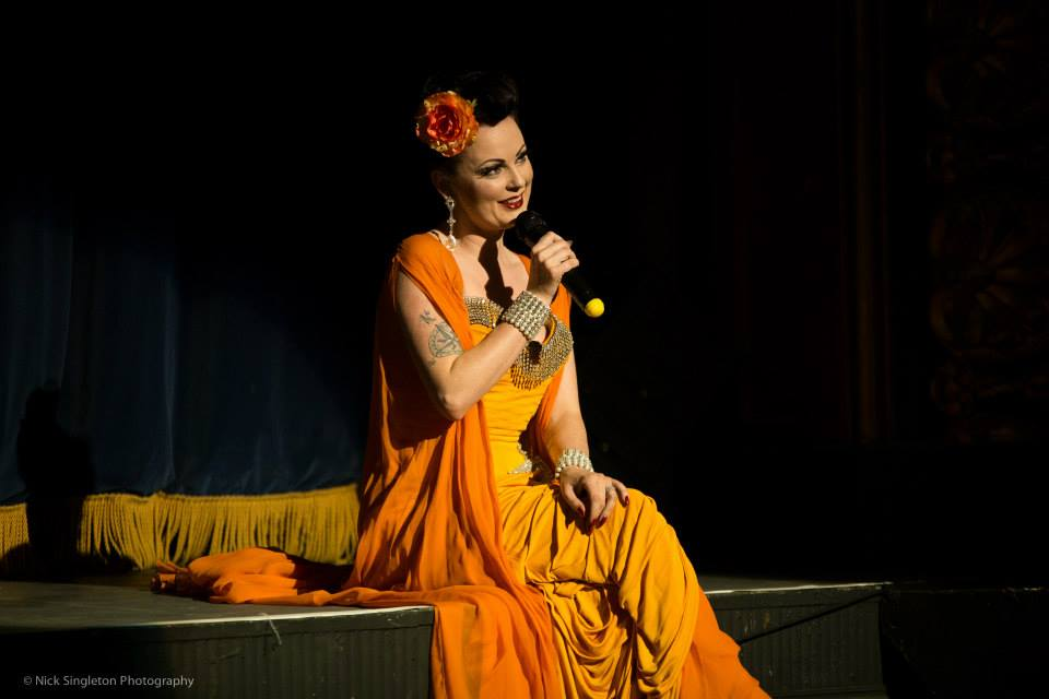 Lili La Scala at the Hebden Bridge Burlesque Festival 2015, by Nick Singleton Photography