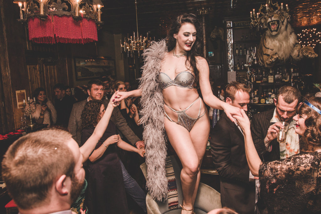 Betsy Rose at Gin House Burlesque. Photo by Chris Baker