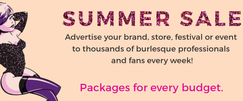 Burlesque Advertising Summer Sale