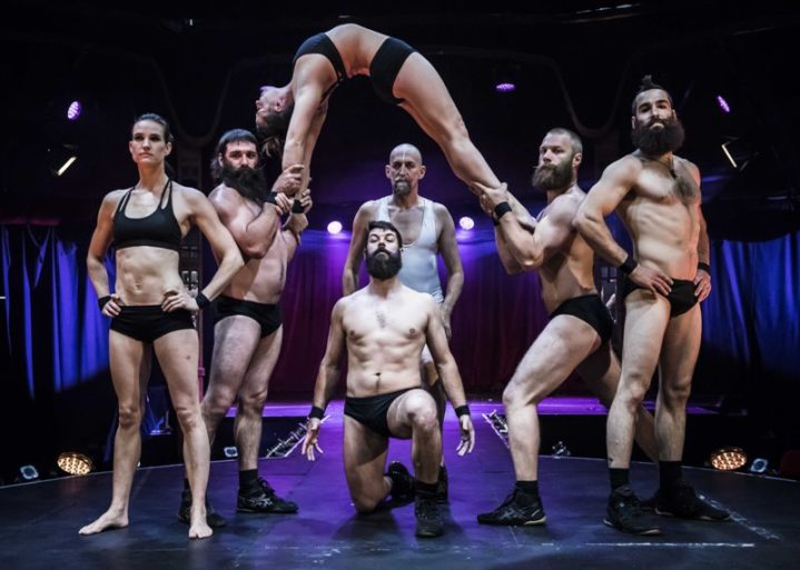 Cirque Alfonse in BARBU at the London Wonderground Spiegeltent, by David Jensen