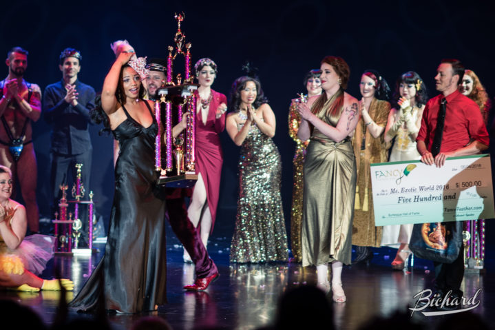 Poison Ivory is crowned Miss Exotic World, Reigning Queen of Burlesque at the Burlesque Hall of Fame Weekend 2016. Copyright: John-Paul Bichard for 21st Century Burlesque Magazine
