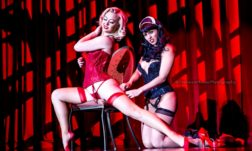 Ginger Valentine and Missy Lisa in the Viva Las Vegas Burlesque Showcase, April 2016. ©Chris Harman/Harman House Photography for 21st Century Burlesque Magazine. Not to be used without permission.
