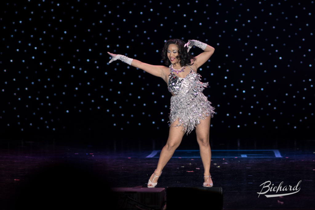 Di Lovely competes for Miss Exotic World, Reigning Queen of Burlesque at the Burlesque Hall of Fame Weekend 2016. Copyright: John-Paul Bichard