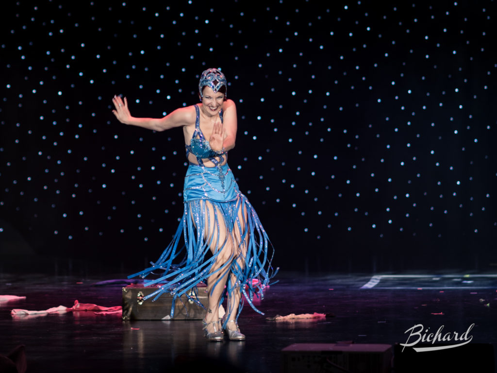 Gin Minsky competes for Miss Exotic World, Reigning Queen of Burlesque at the Burlesque Hall of Fame Weekend 2016. Copyright: John-Paul Bichard