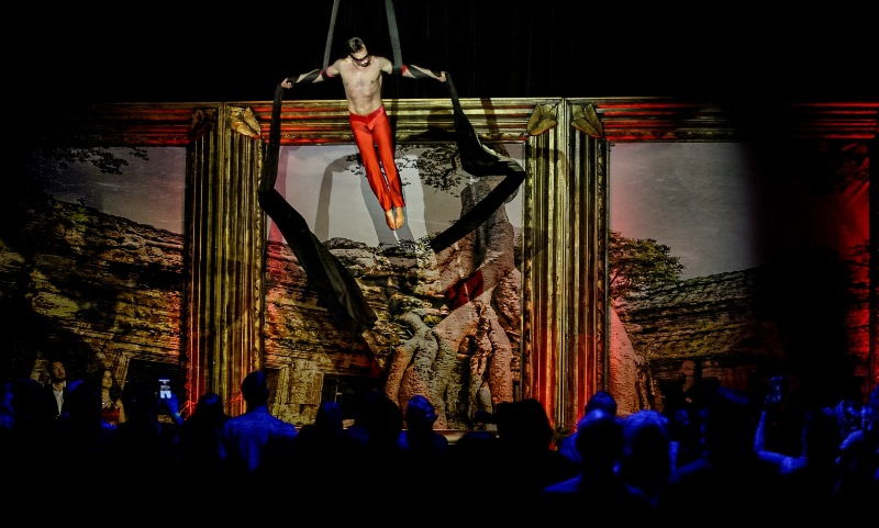 Aerialist Graeme Clint performing at the Sublime Boudoir Burlesque Hall of Fame Weekend 2016 Afterparty.