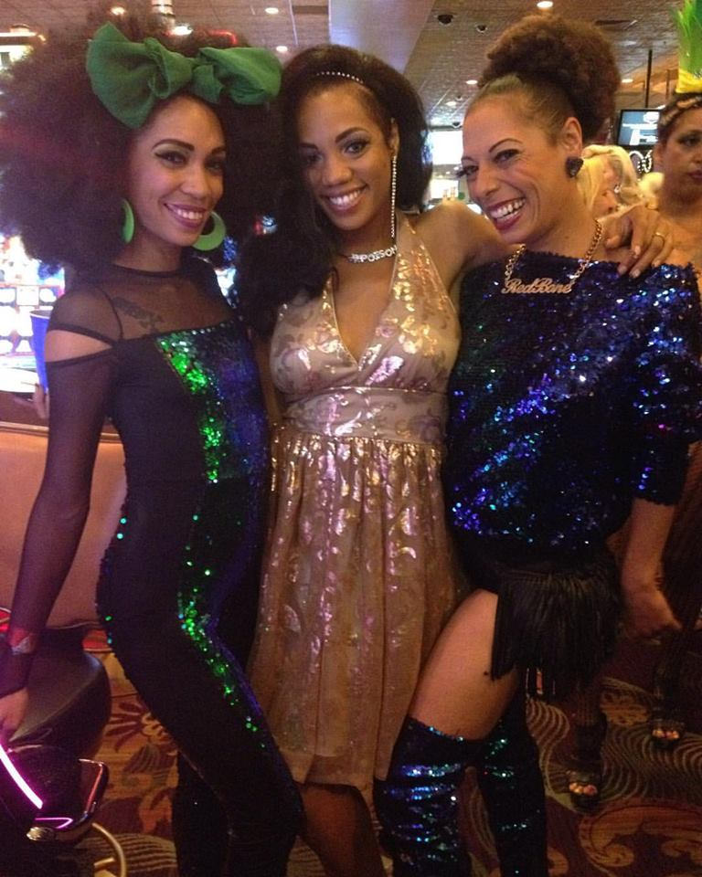 Poison Ivory, Jeez Loueez and Redbone at the Burlesque Hall of Fame Weekend 2016.