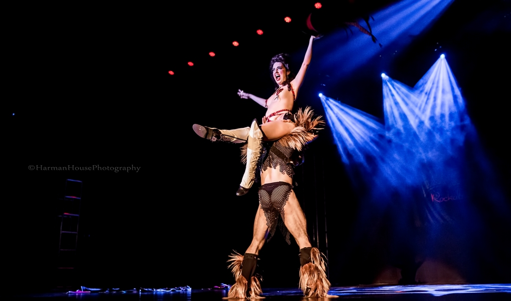 Tansy and Leon in the Viva Las Vegas Burlesque Showcase, April 2016.  ©Chris Harman/Harman House Photography for 21st Century Burlesque Magazine. Not to be used without permission.