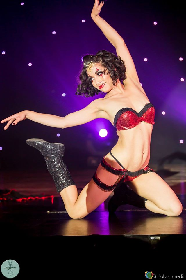 Jazida at the Australian Burlesque Festival 2016. Image copyright 3 Fates Media