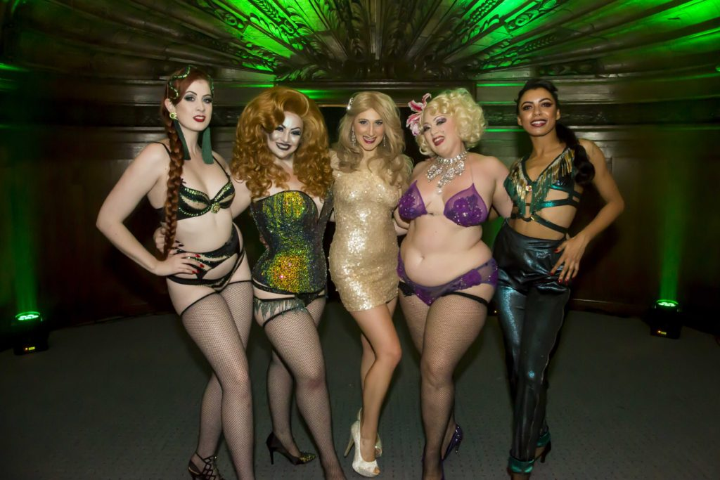 Headliners Jacqueline Furey, Alyssa Kitt, Elena Gabrielle, Dirty Martini and Zelia Rose at the Australian Burlesque Festival 2016. Image copyright 3 Fates Media
