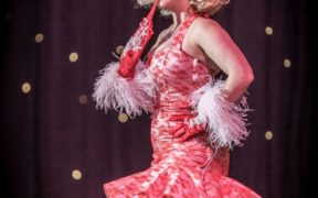 Havana Hurricane stars in Burlesque Noir at the Blackpool Tower Ballroom. Photo Neal Rylatt Photography.