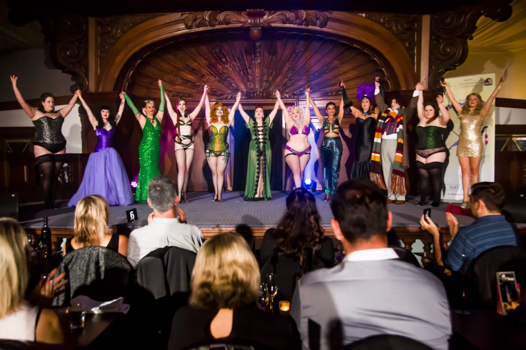 The cast of the Australian Burlesque Festival 2016.