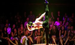 Hamish McCann in La Soiree in Leicester Square this Christmas, by Prudence Upton.