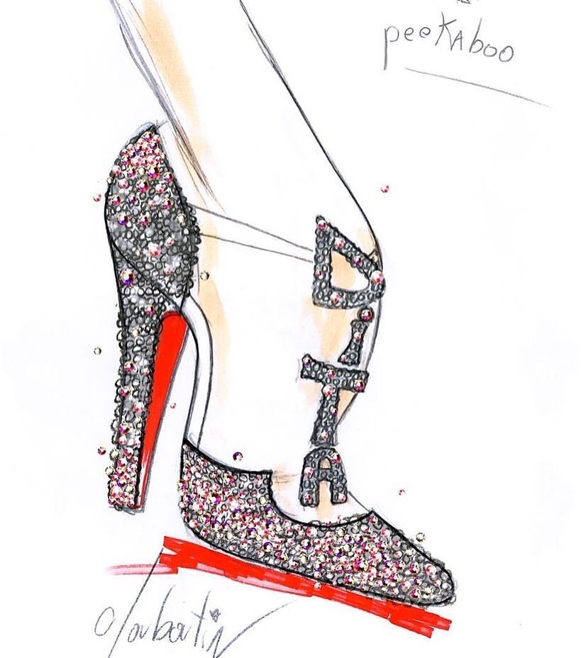 Dita Von Teese custom shoes by Christian Louboutin. Used with kind permission of Dita Von Teese.