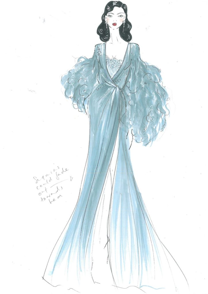 Dita Von Teese costume design by Jenny Packham. Used with kind permission of Dita Von Teese.