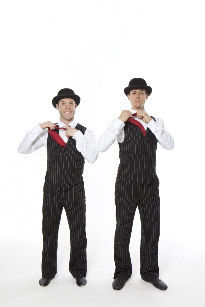 Hamish McCann and Denis Lock as The English Gents in La Soirée at Christmas in Leicester Square. Image by Sean Young