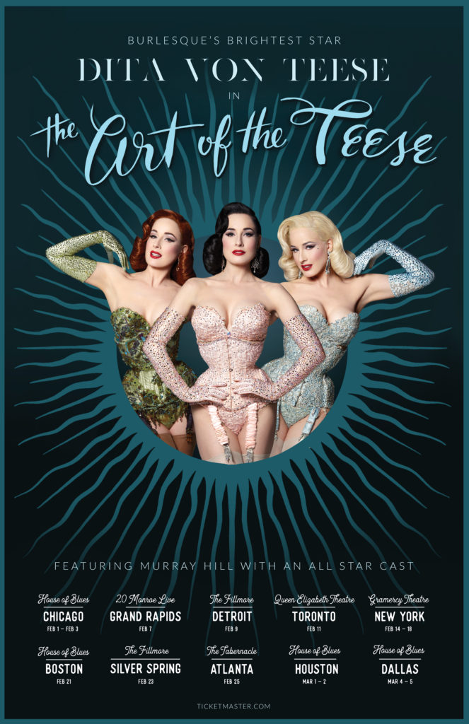 Dita Von Teese in The Art of the Teese, with images by Albert Sanchez.
