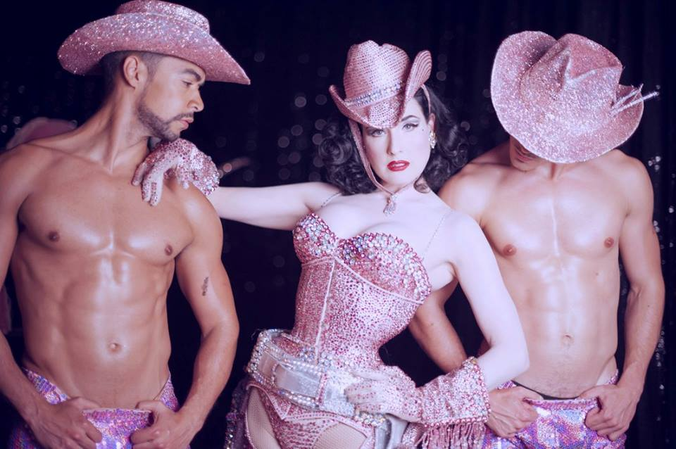 Dita Von Teese with her Vontourage in Strip Strip Hooray! Photo: Kaylin Idora
