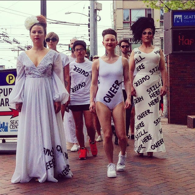 Kitten 'N' Lou on the Silent Queer March