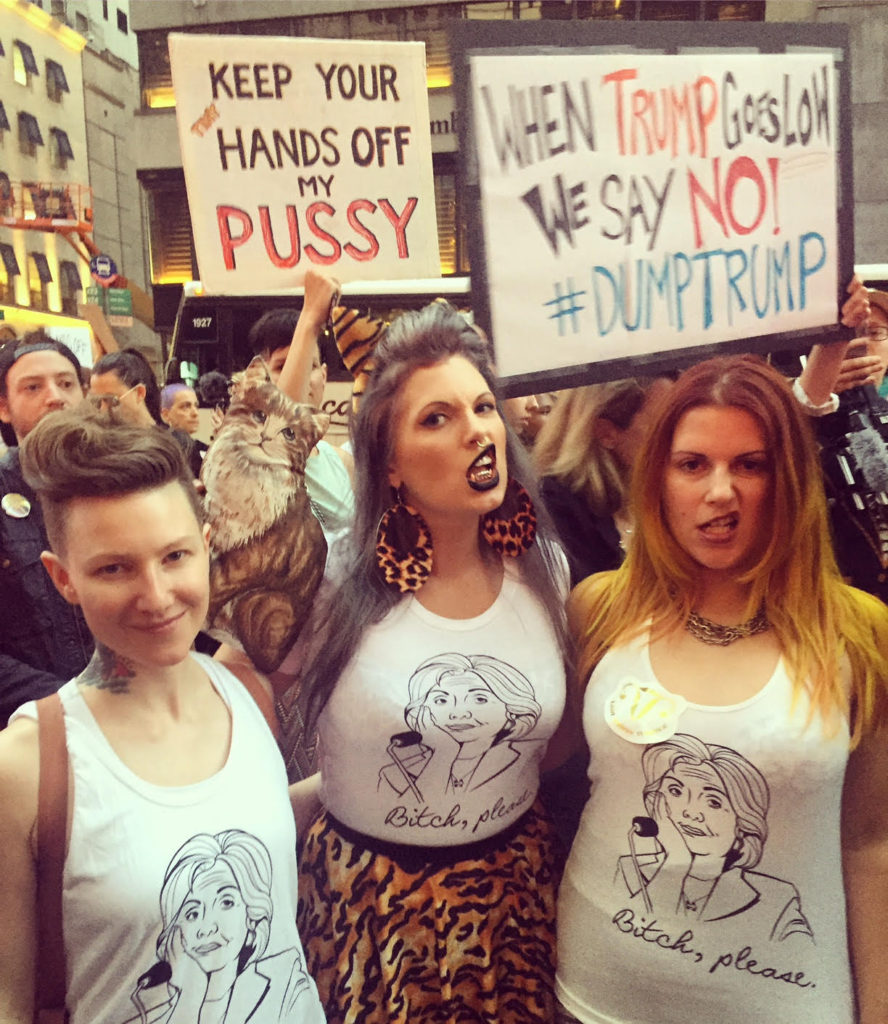 Pussy power at Trump Tower protest