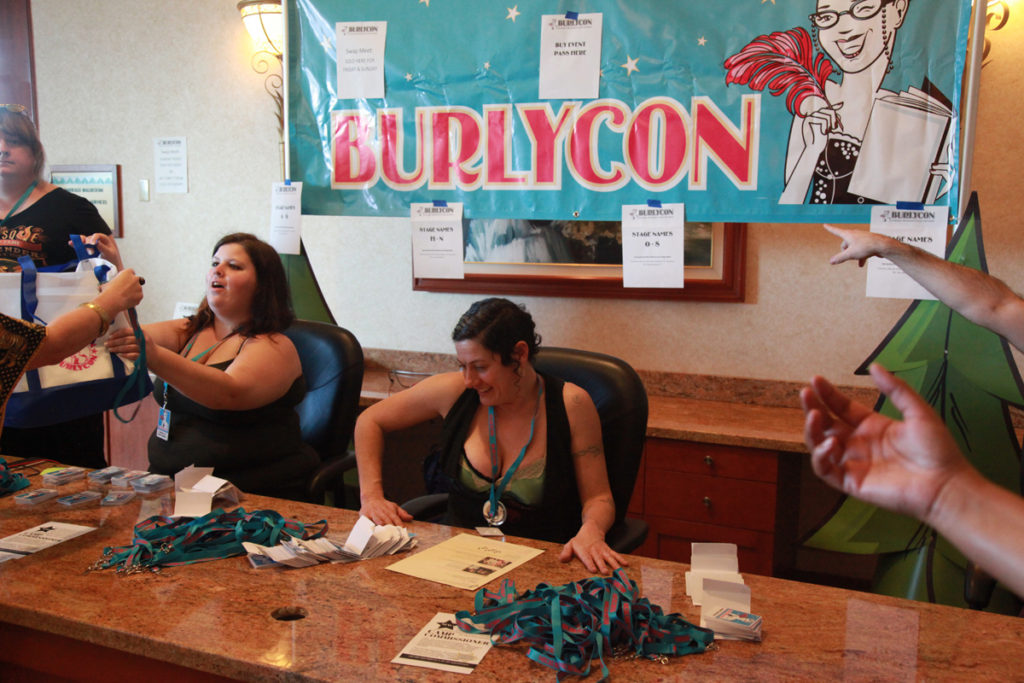 Registration at BurlyCon 2016. Copyright Don Spiro for BurlyCon