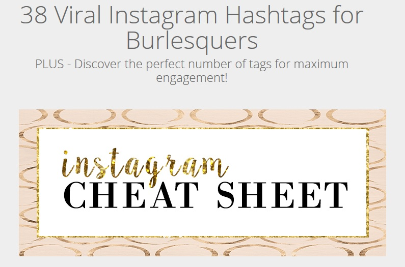 Burlesque Instagram Cheat Sheet
