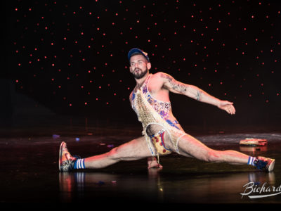 Chris Go-Go Harder at the Burlesque Hall of Fame Weekend 2016. Image copyright John-Paul Bichard.