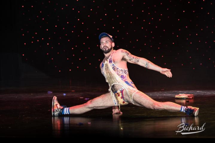 Chris Go-Go Harder at the Burlesque Hall of Fame Weekend 2016. Image copyright John-Paul Bichard.