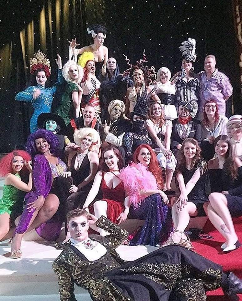 The 2016 cast of Raven Noir's Burlesque Noir, by Neil Kendall