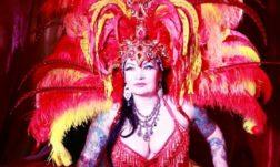 Burlesque performer Raven Noir, producer of Burlesque Noir, by Neil Kendall