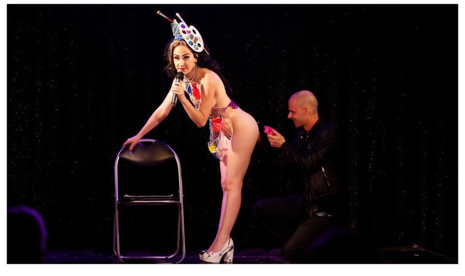 Memphis Mae in Baby Got Back burlesque in Australia. (c. Frankie Valentine)