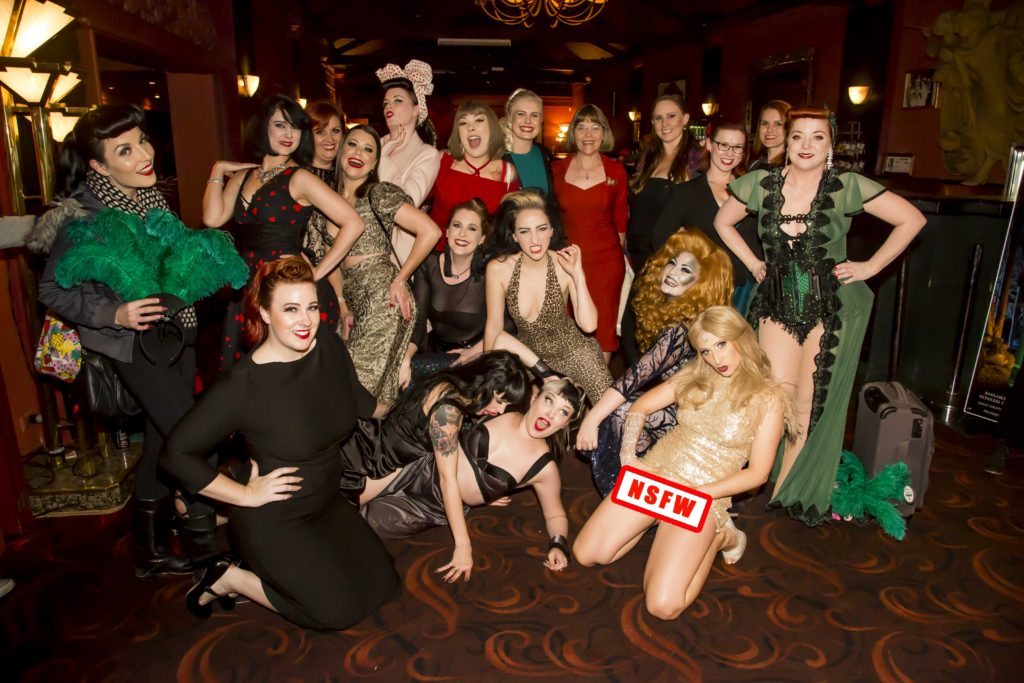 The Brisbane cast of the Australian Burlesque Festival 2016. Image copyright 3 Fates Media
