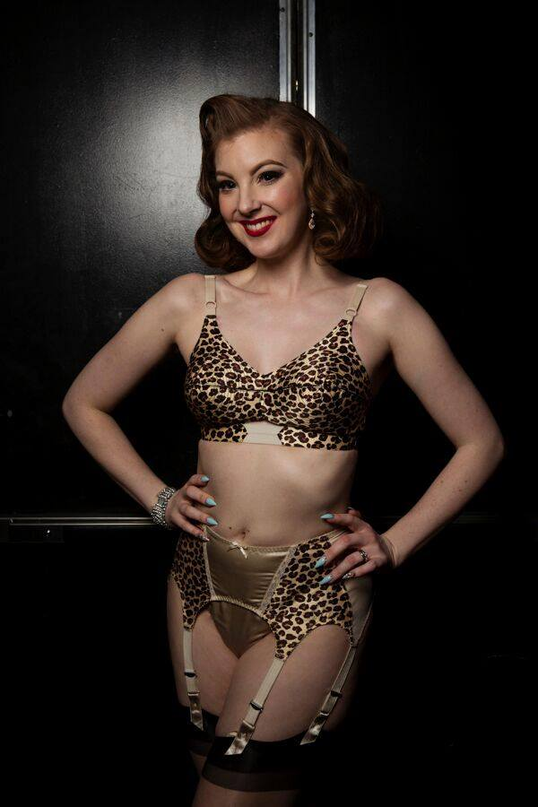 Edie Edison, stage kitten of the Burlesque Showcase at the Viva Las Vegas Rockabilly Weekend. Photo by Steve Prue.