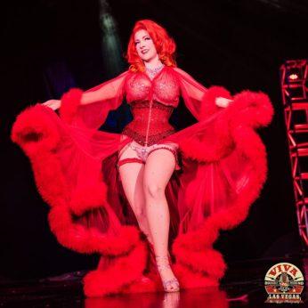 Blaze in the Miss Viva Las Vegas burlesque competition 2017. © Tim Hunter.