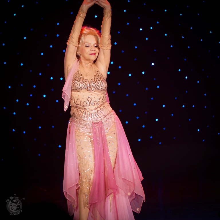 Val Valentine in the 60th annual Titans of Tease Burlesque Reunion Showcase at the Burlesque Hall of Fame Weekend 2017. Image by Honey Beavers, exclusively for 21st Century Burlesque Magazine