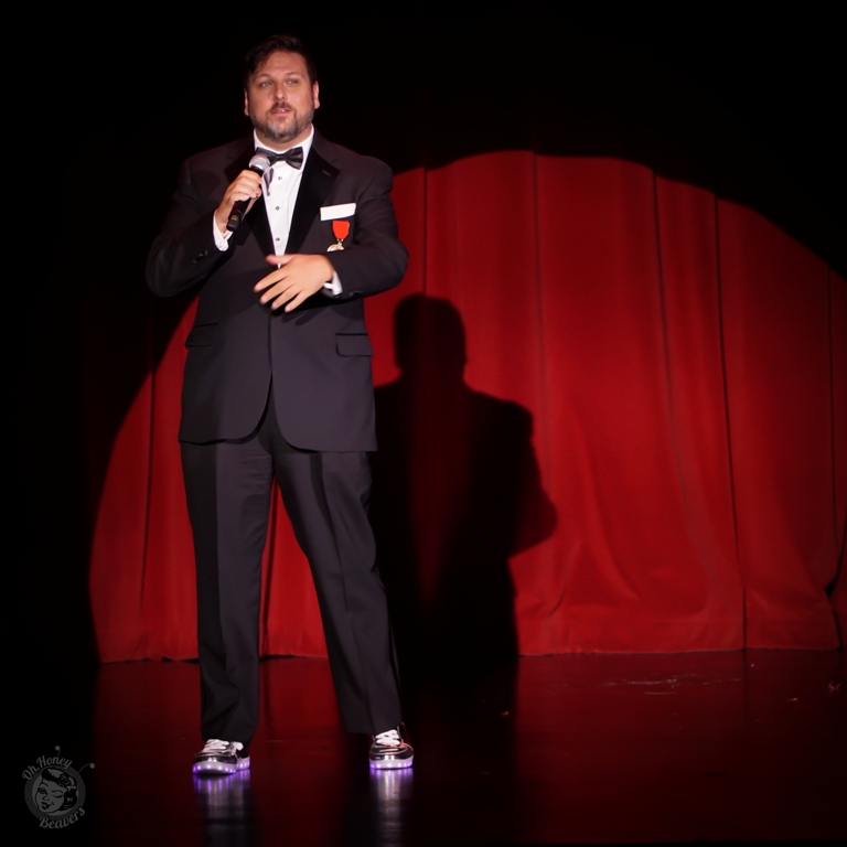 Executive Director Dustin Wax in the Icons and All Stars Showcase at the Burlesque Hall of Fame Weekend 2017. Image by Honey Beavers, exclusively for 21st Century Burlesque Magazine