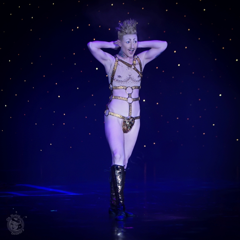 Lou Henry Hoover, awarded Best Boylesque at the Burlesque Hall of Fame Weekend 2017. Image by Honey Beavers, exclusively for 21st Century Burlesque Magazine