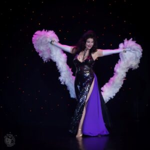 Shannon Doah in the 60th annual Titans of Tease Burlesque Reunion Showcase at the Burlesque Hall of Fame Weekend 2017. Image by Honey Beavers, exclusively for 21st Century Burlesque Magazine