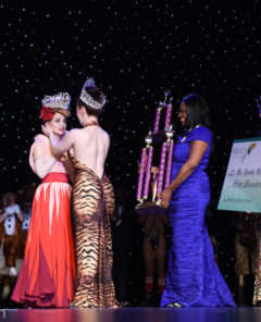 INGA is crowned Miss Exotic World, Reigning Queen of Burlesque 2018 at the Burlesque Hall of Fame Weekend 2018 in the Orleans Showroom, Las Vegas. Photo © MC Newman