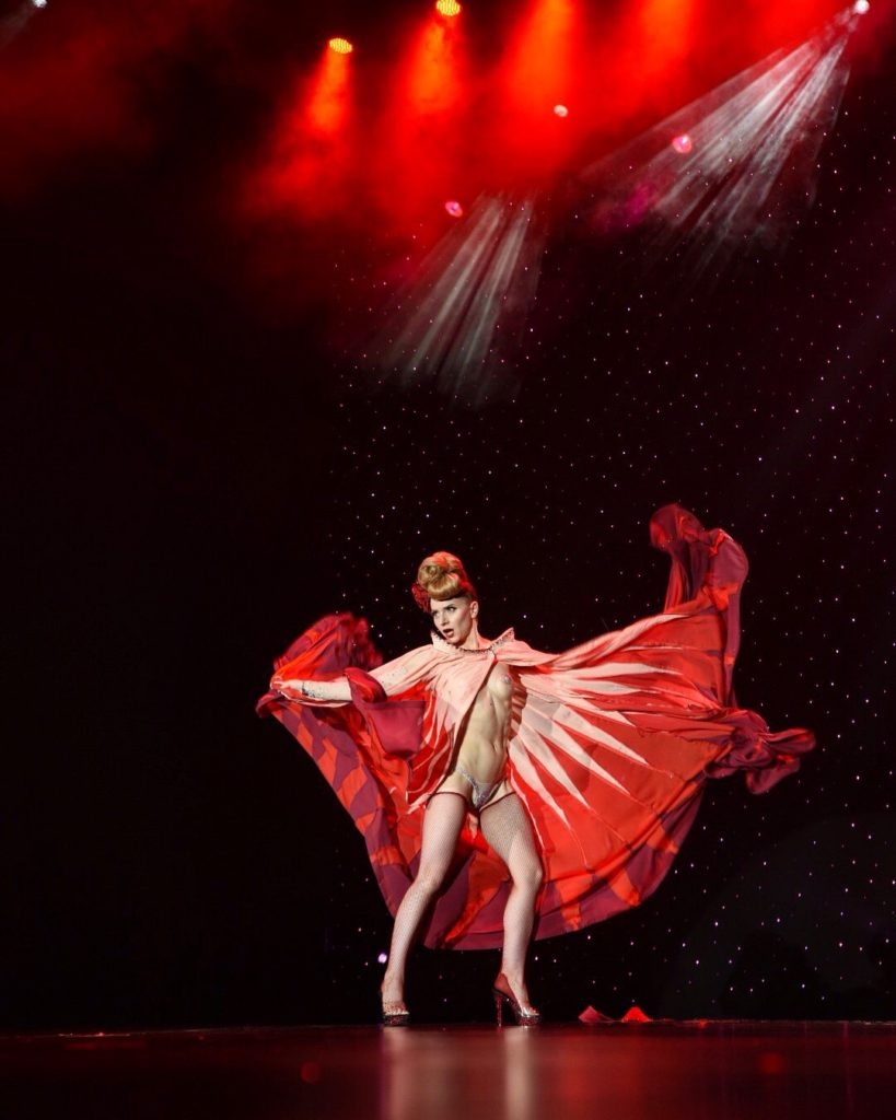 INGA's performance saw her crowned Miss Exotic World, Reigning Queen of Burlesque 2018 at the Burlesque Hall of Fame Weekend 2018 in the Orleans Showroom, Las Vegas. Photo © MC Newman